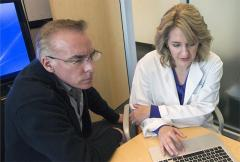 Immunologist Michael Gale, Jr., and obstetrician Kristina Adams Waldorf discuss a new maternal-fetal health program at the Center for Innate Immunity and Disease.
